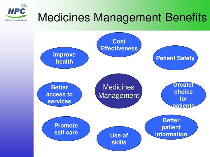 Medicines Management Benefits