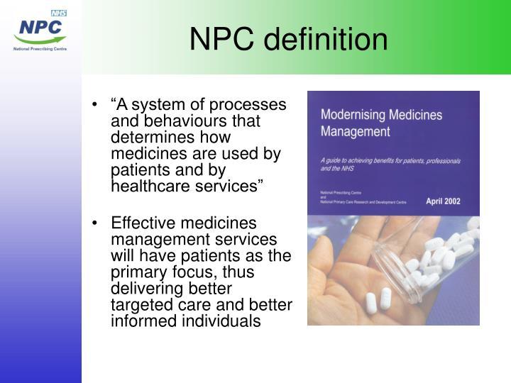 NPC definition