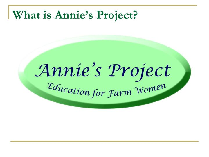 What is Annie's Project?