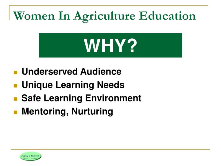Women In Agriculture Education