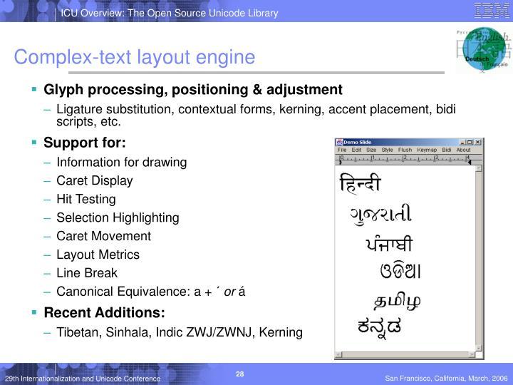 Complex-text layout engine