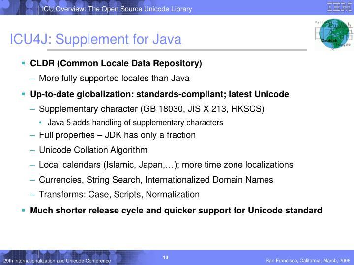 ICU4J: Supplement for Java
