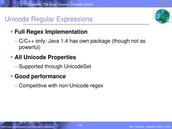 Unicode Regular Expressions