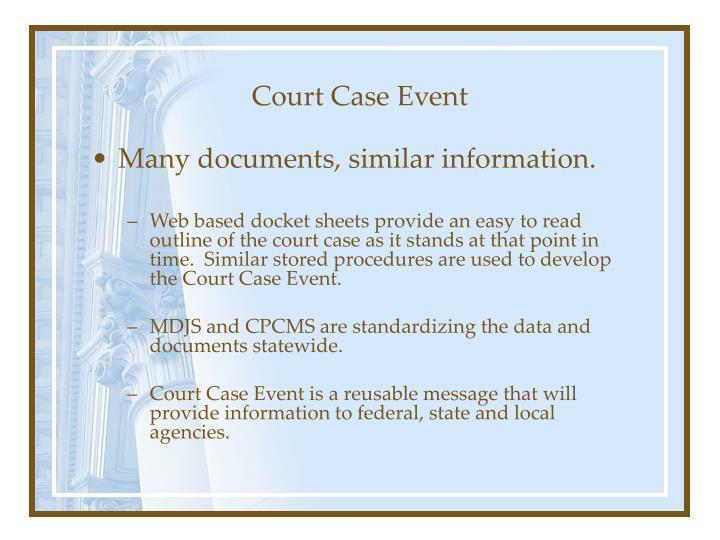 Court Case Event