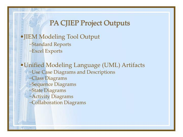 PA CJIEP Project Outputs