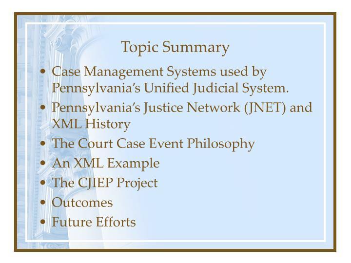 Topic Summary