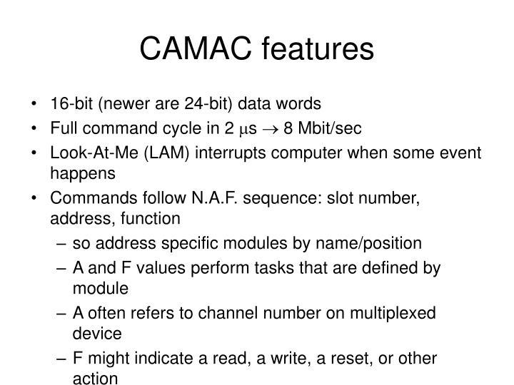 CAMAC features