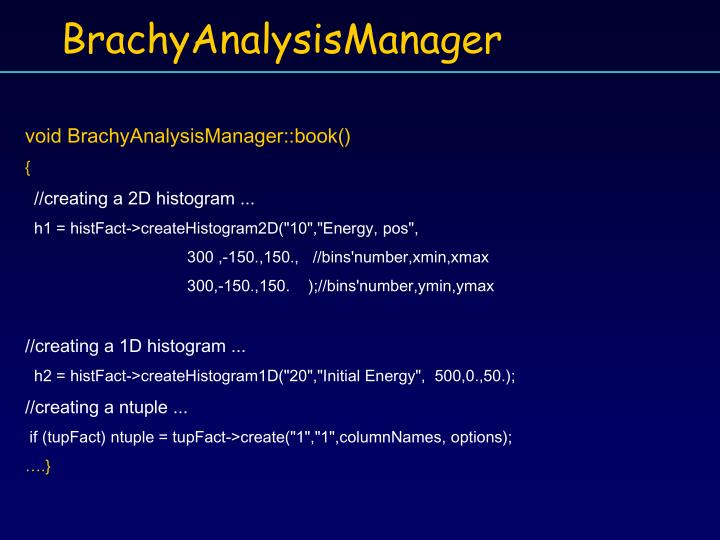 void BrachyAnalysisManager::book()