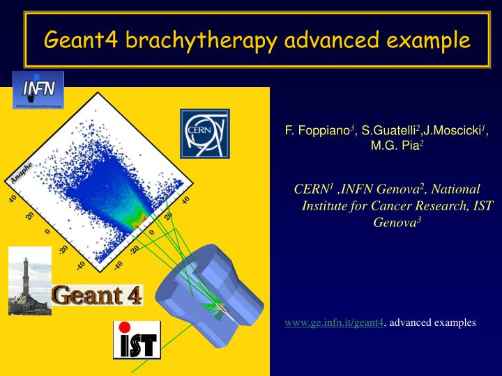 Geant4 brachytherapy advanced example