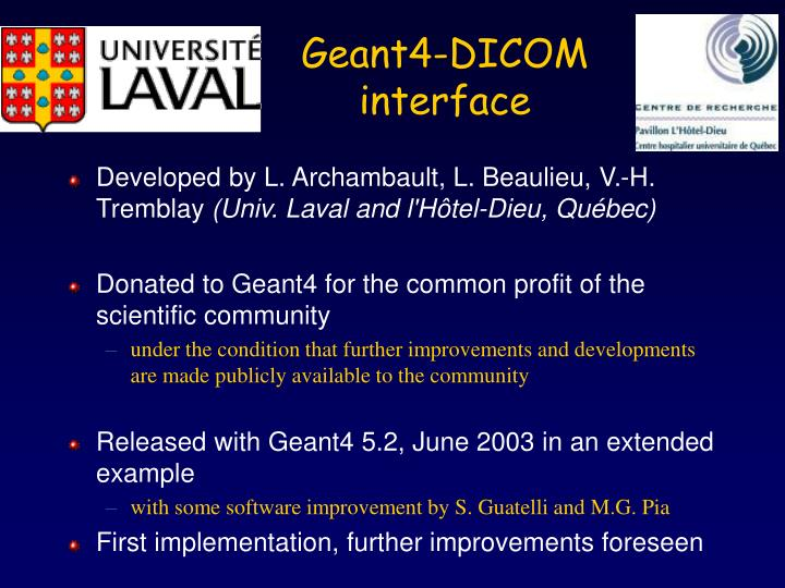 Geant4-DICOM interface