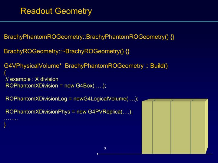Readout Geometry