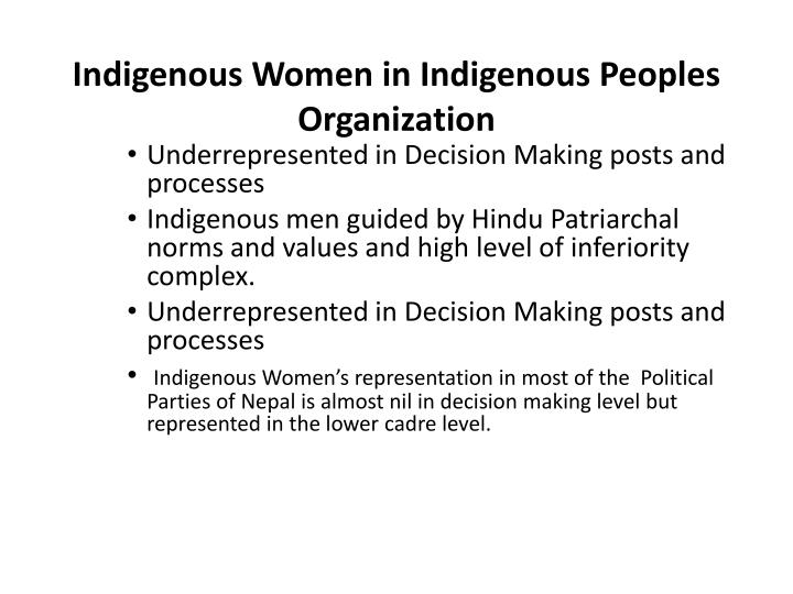 Indigenous Women in Indigenous Peoples Organization