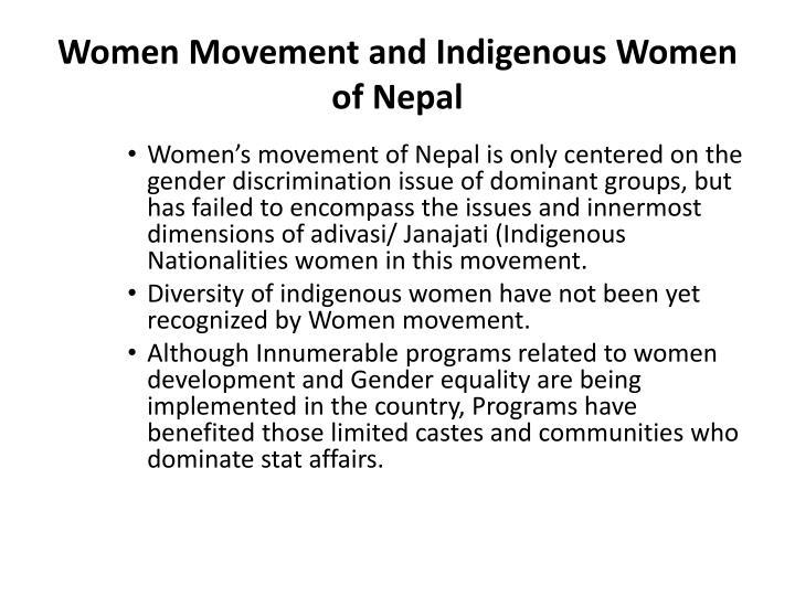 Women Movement and Indigenous Women of Nepal