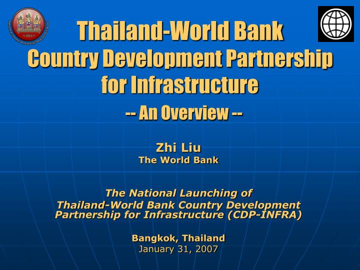 Thailand world bank country development partnership for infrastructure an overview