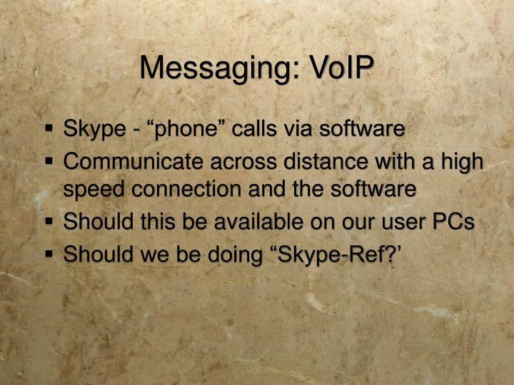 Messaging: VoIP