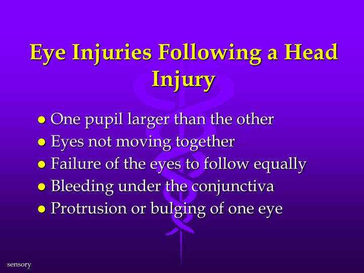 Eye Injuries Following a Head Injury