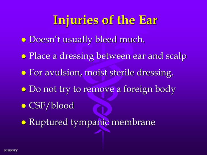Injuries of the Ear