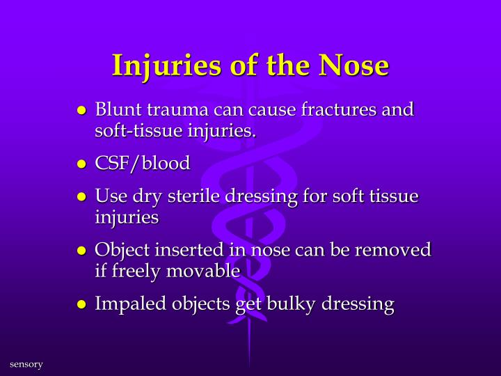 Injuries of the Nose