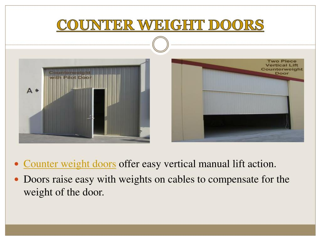 COUNTER WEIGHT DOORS