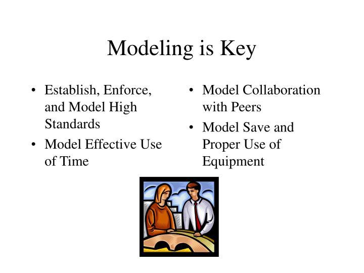 Establish, Enforce, and Model High Standards
