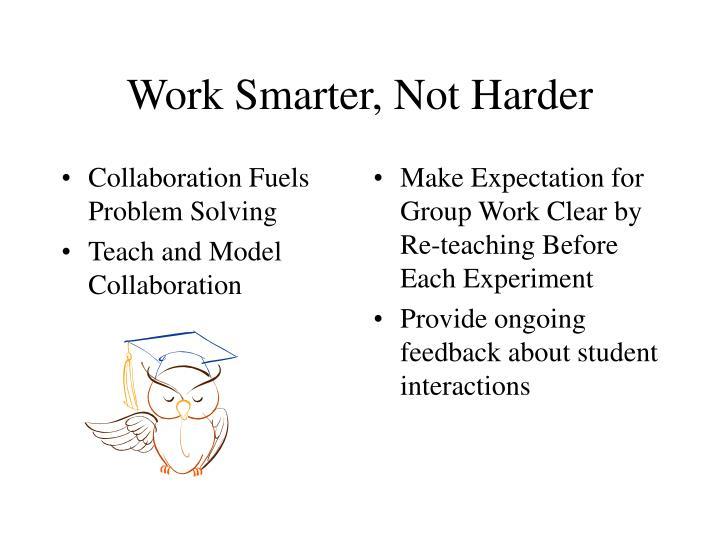 Collaboration Fuels Problem Solving
