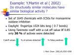example y martin et al 2002 do structurally similar molecules have similar biological activity