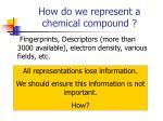 how do we represent a chemical compound