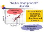 neibourhood principle analysis