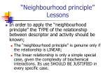 neighbourhood principle lessons