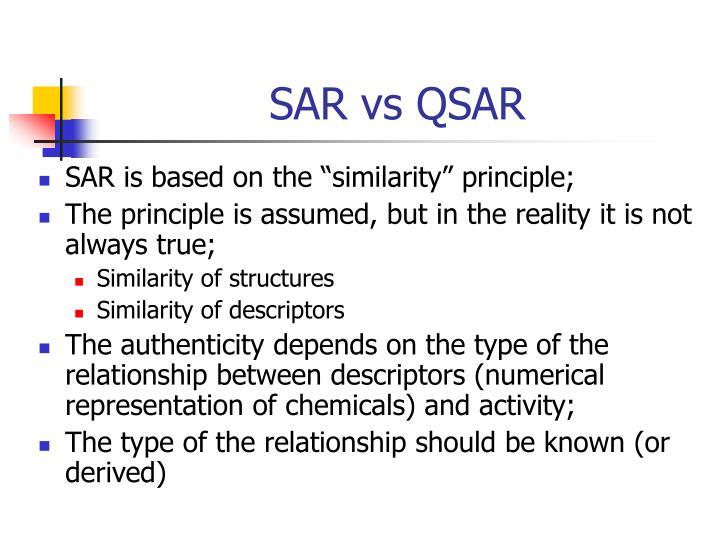 SAR vs QSAR
