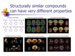 structurally similar compounds can have very different properties