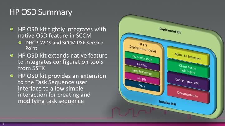 HP OSD Summary