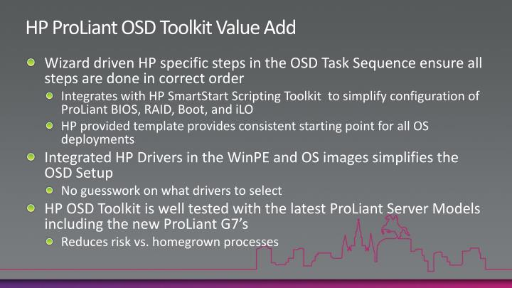 HP ProLiant OSD Toolkit Value Add