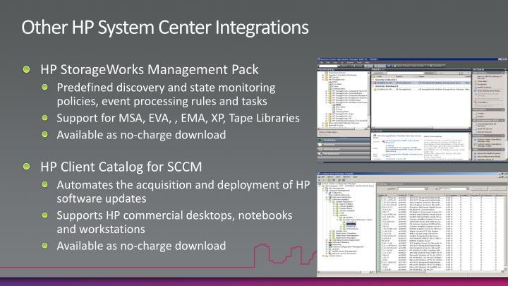 Other HP System Center Integrations