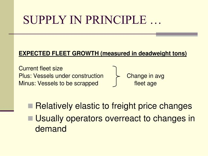 SUPPLY IN PRINCIPLE …