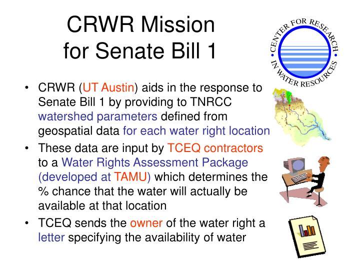 CRWR Mission
