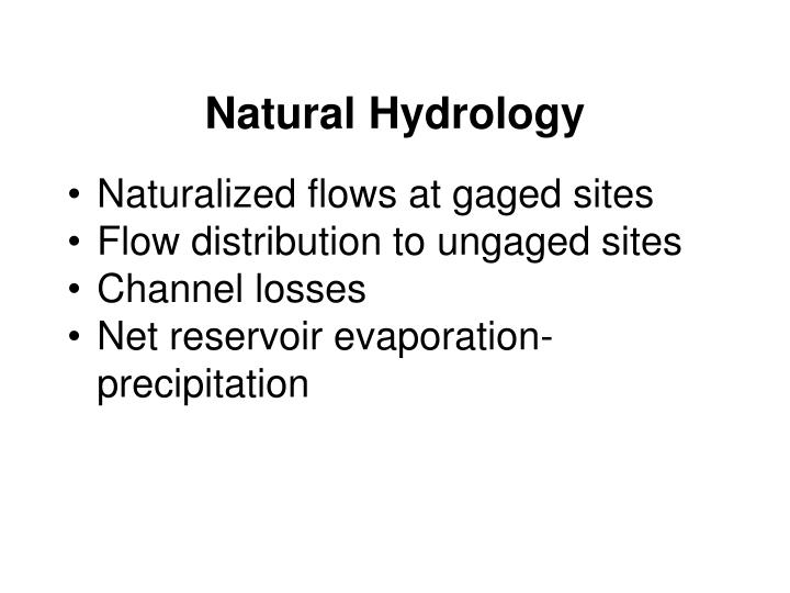 Natural Hydrology