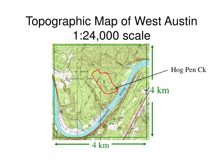 Topographic Map of West Austin