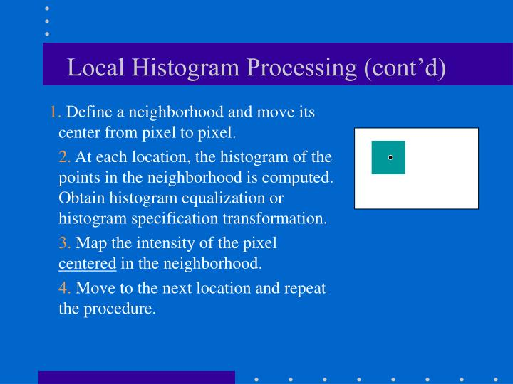 Local Histogram Processing (cont'd)