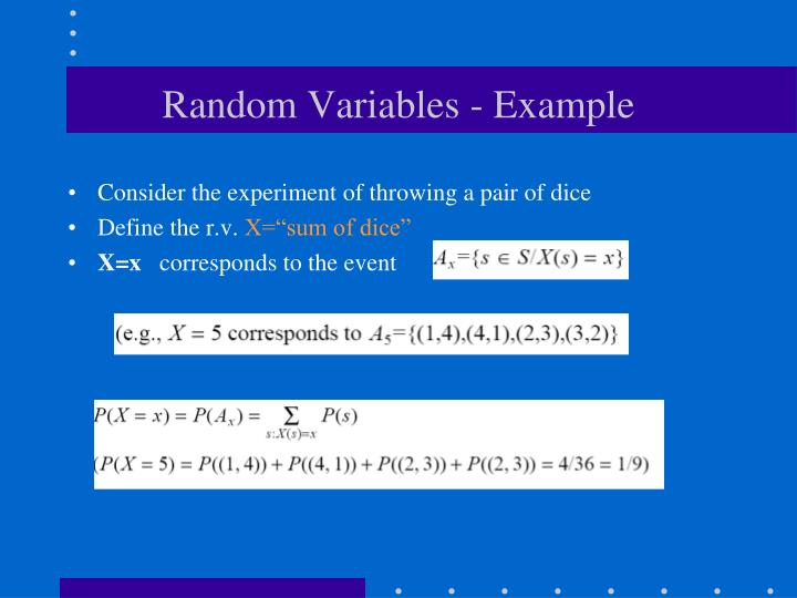 Random Variables - Example
