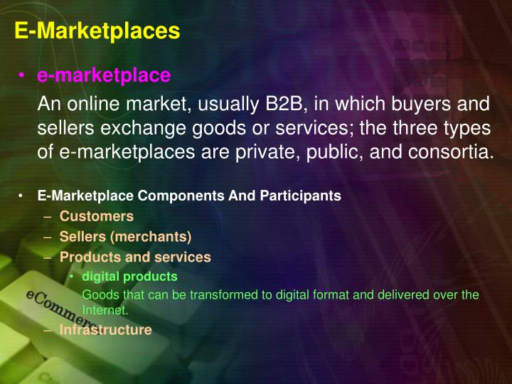 E marketplaces