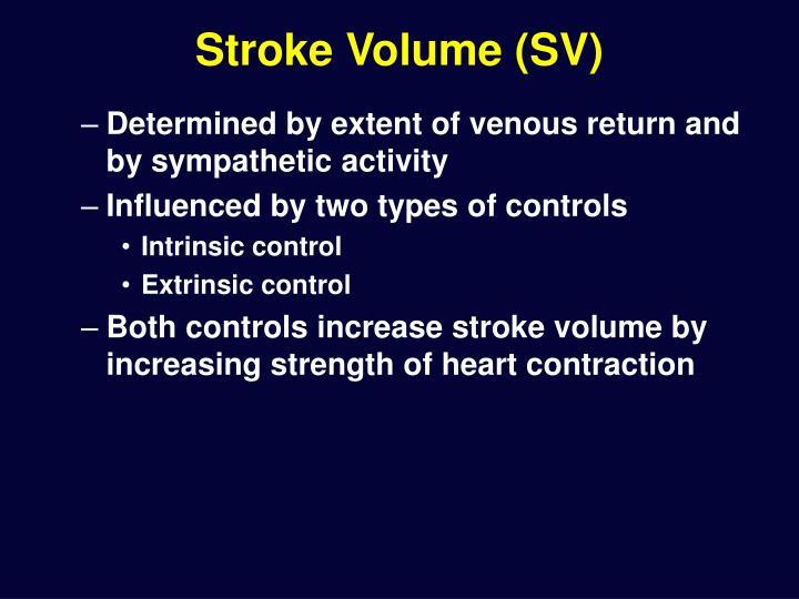 Stroke Volume (SV)