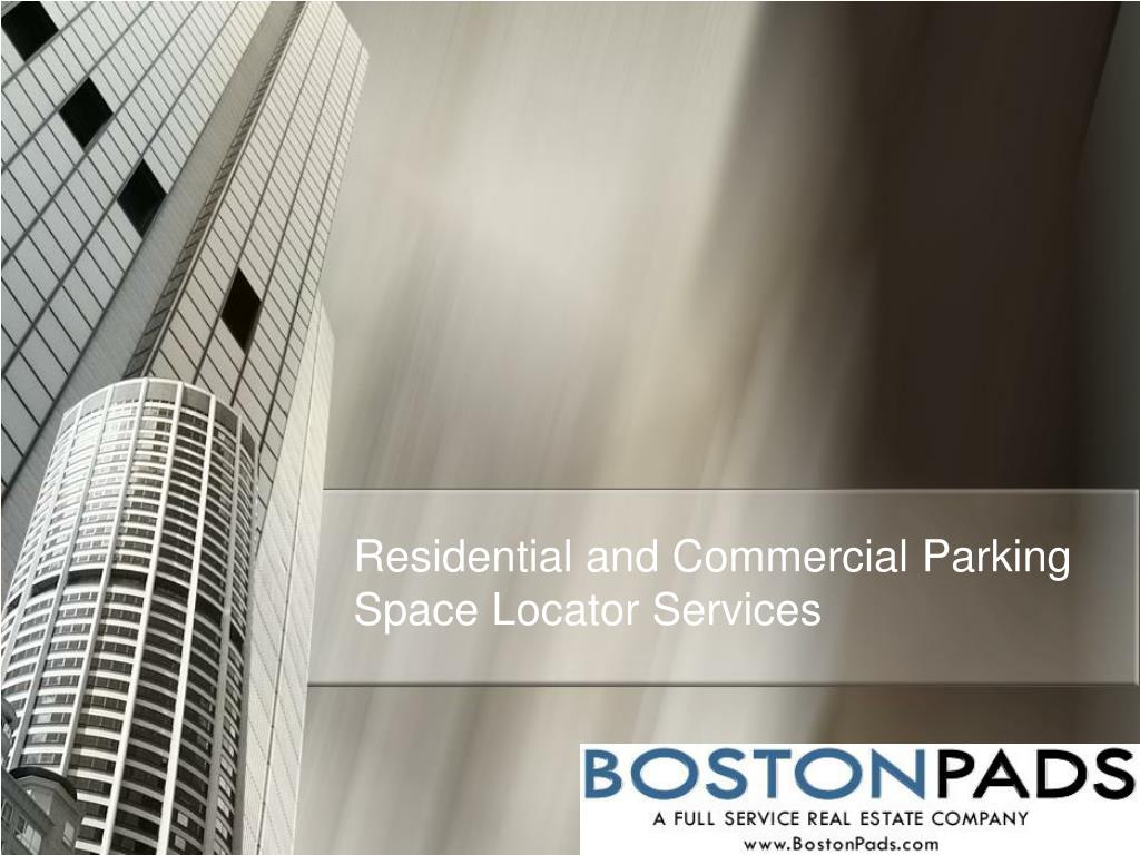 Residential and Commercial Parking Space Locator Services