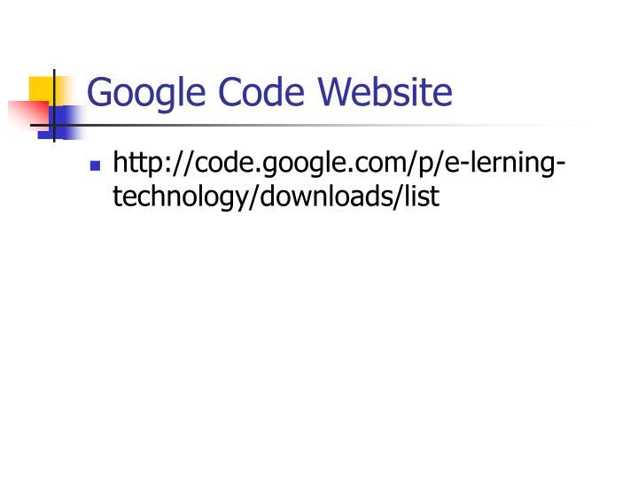 Google Code Website