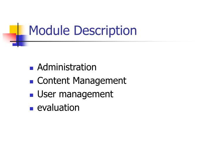 Module Description