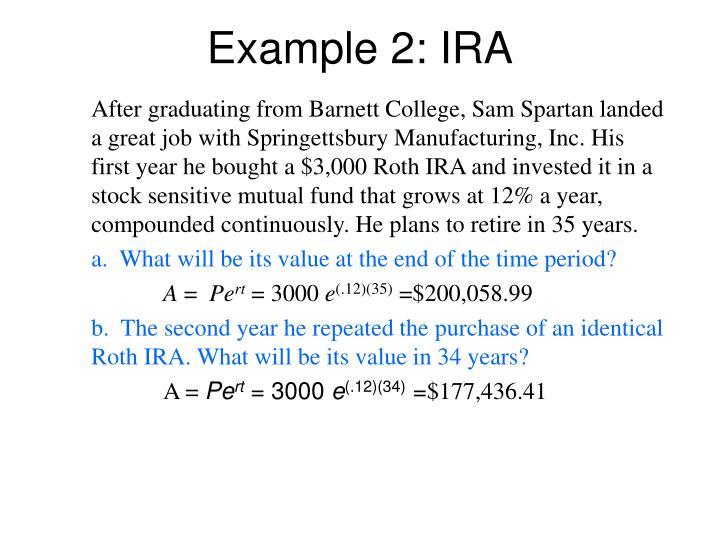 Example 2: IRA