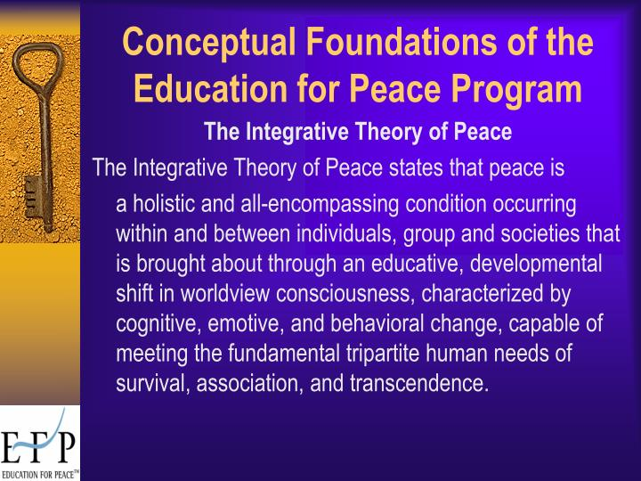 Conceptual foundations of the education for peace program