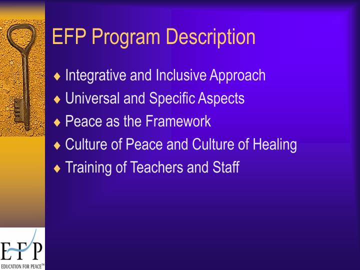 EFP Program Description