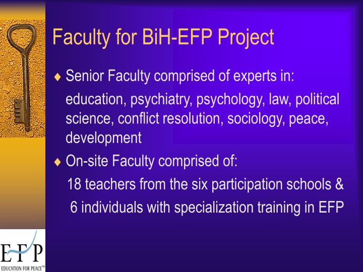 Faculty for BiH-EFP Project