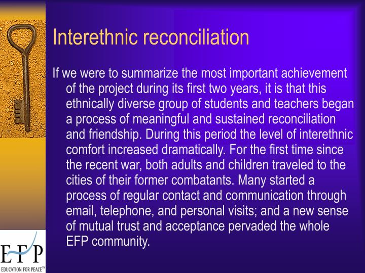 Interethnic reconciliation